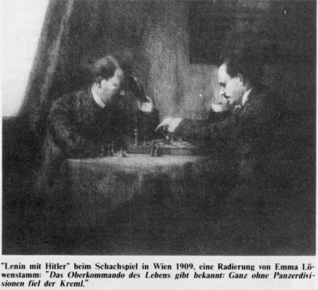 Ленин и Гитлер играют в шахматы