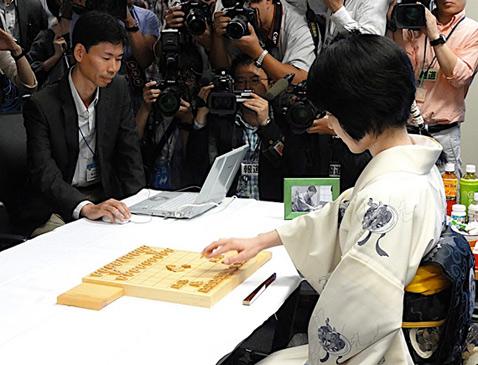 Итиё утверждает, что с самого начала пыталась играть в полную силу, как если бы сражалась с человеком (фото с сайта ipsj.or.jp).